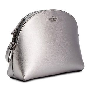 Kate Spade Silver NEW Hilli Crossbody Purse Clutch